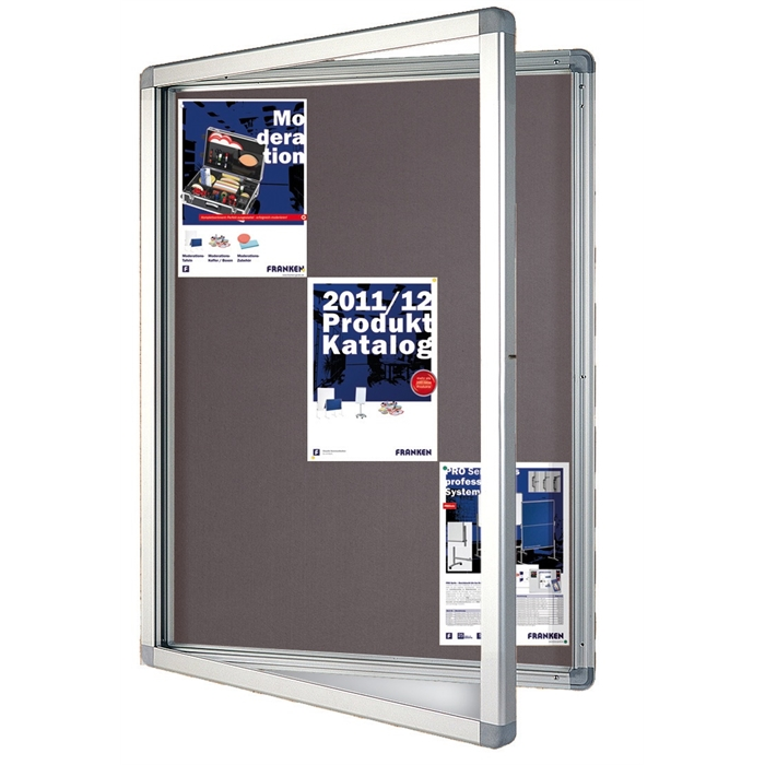 Picture of ECO Outdoor Display Cases, 15 x A4, 117.5 x 99 x 4.5 cm, felt, grey