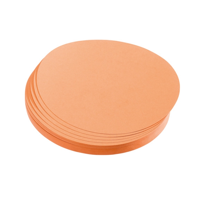 Picture of Training cards, circles, 9.5 cm dia., orange, 500 pieces