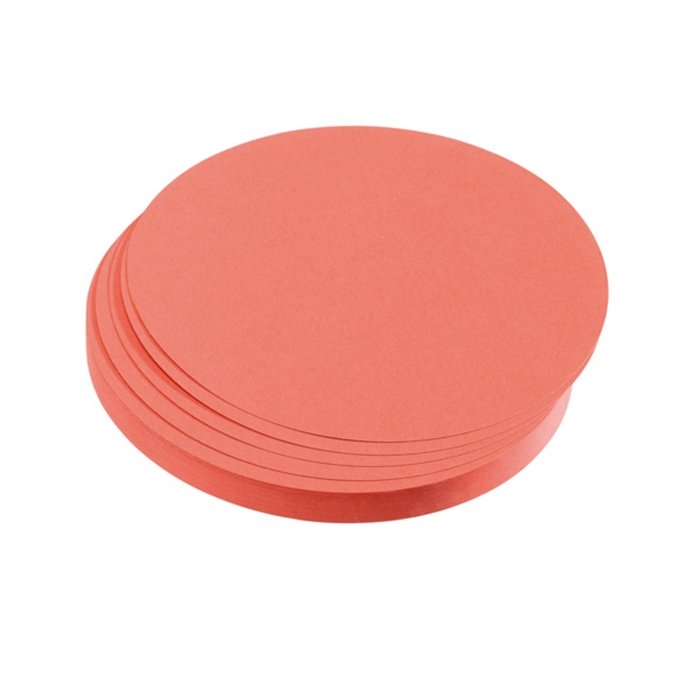 Picture of Training cards, circles, 9.5 cm dia., red, 500 pieces