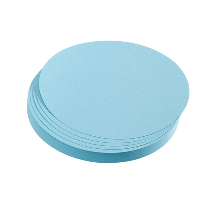 Picture of Training cards, circles, 9.5 cm dia., light blue, 500 pieces
