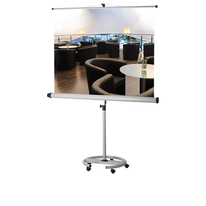 Picture of Projection screen PRO mobile stand, format 1:1, screen size 150 x 150 cm