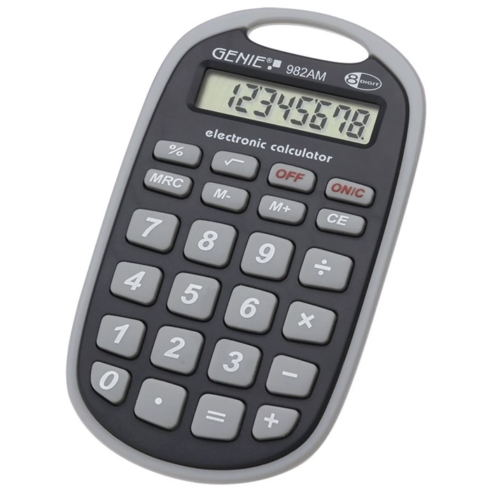 Picture of GENIE 982AM - 8-digit Pocket calculator Battery power Grey