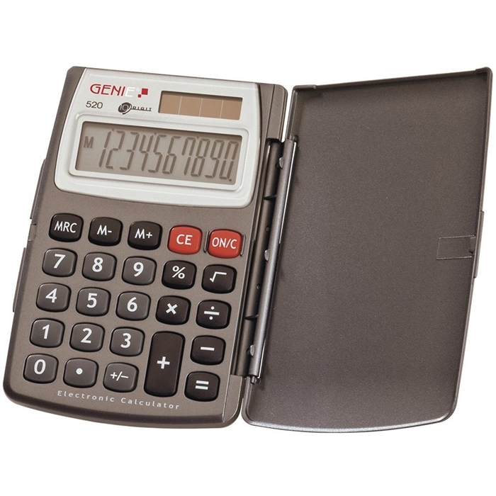 Picture of GENIE 520 - 10-digit Pocket calculator Dual power With cover Grey