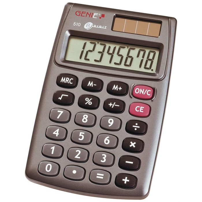Picture of GENIE 510 - 8-digit Pocket calculator Dual power Grey