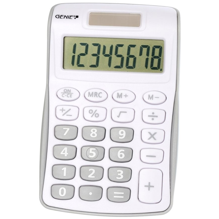 Picture of GENIE 120S - 8-digit Pocket calculator Dual power Grey
