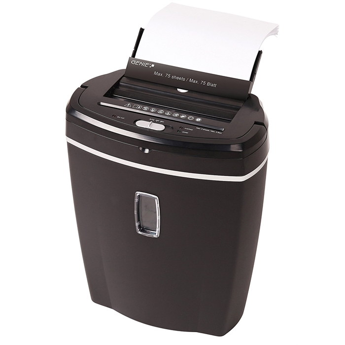 Picture of GENIE 755AFX - Paper shredder Cross-cut 21L P4 Till 75 pages with autofeed Black