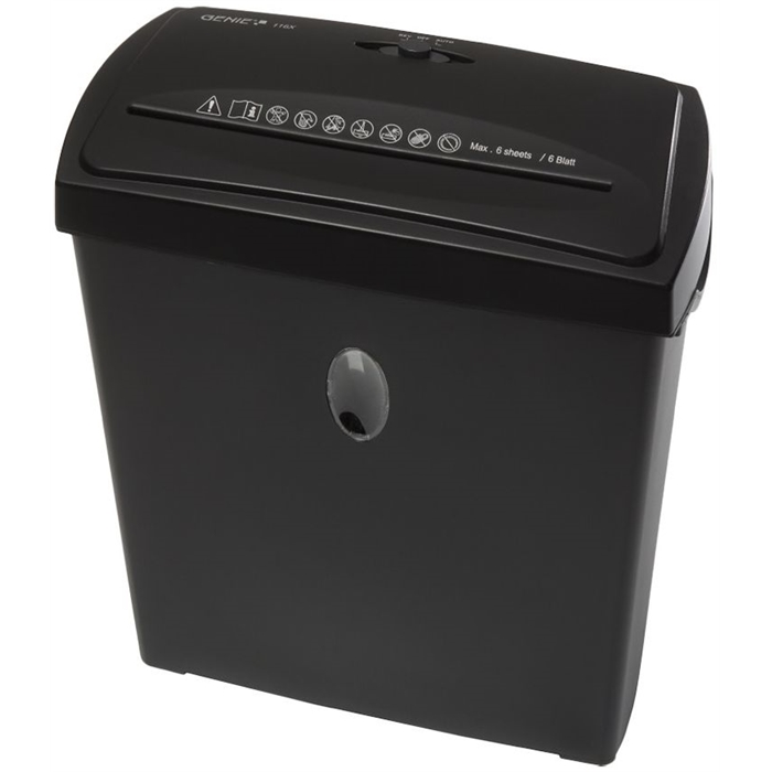 Picture of GENIE 116X - Paper shredder Cross-cut 11L P4 Till 6 pages Black