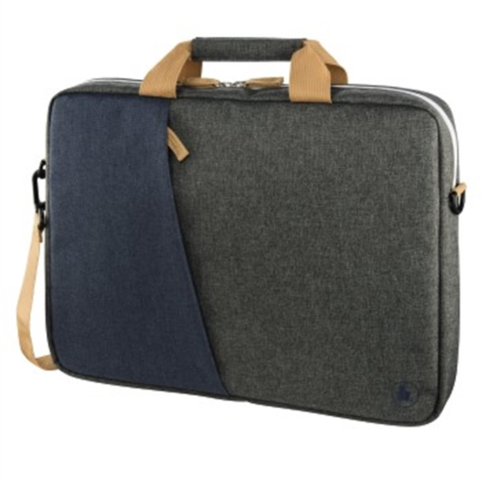 Picture of HAMA 185612 - Florence Notebook Bag, up to 44 cm (17.3), Marine blue / Dark grey