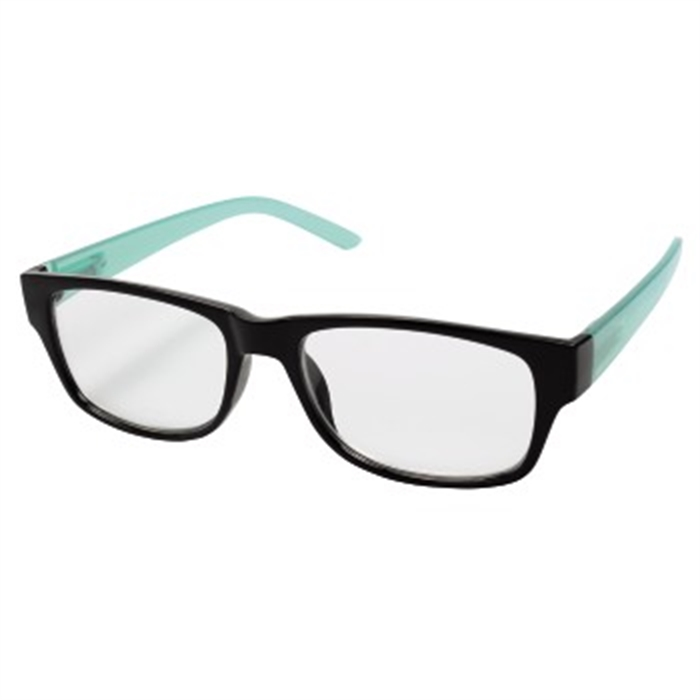 Picture of Reading Glasses, plastic, black/turquoise, +3.0 dpt / Reading Glasses