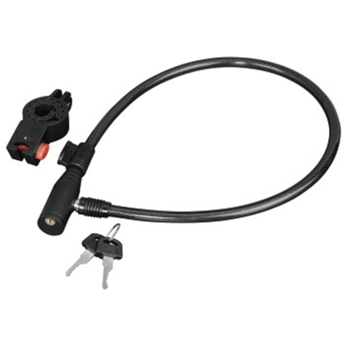Picture of Bicycle Cable Lock, 65 cm, black / Bike Lock