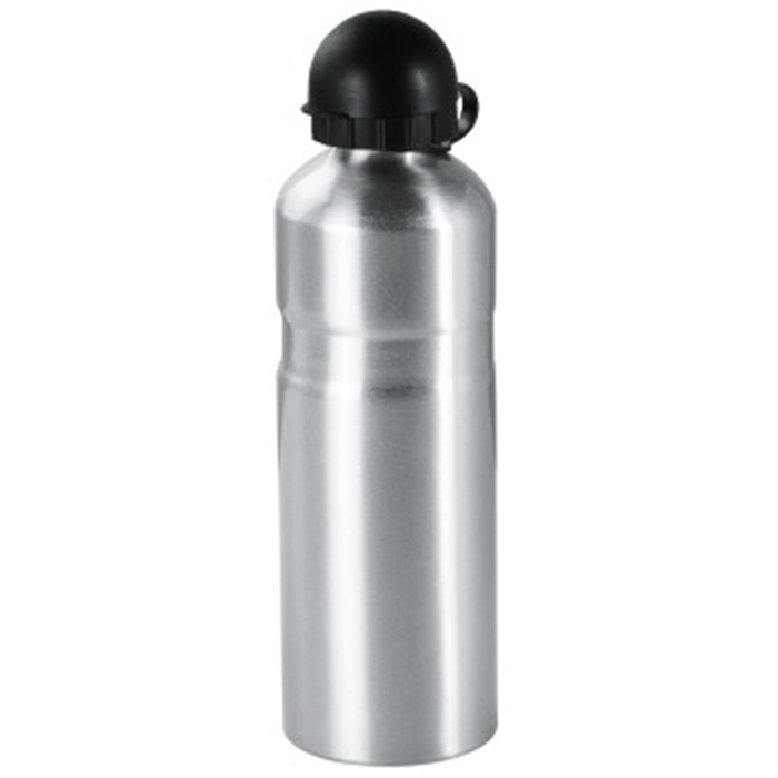 Picture of Bicycle Drink Bottle with Holder, aluminium, 750 ml, silver / Drinking Bottle