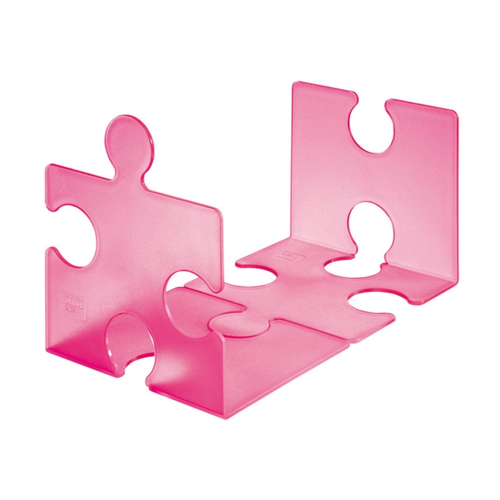 Picture of Support livres HAN Puzzle 2 pièces rose signal