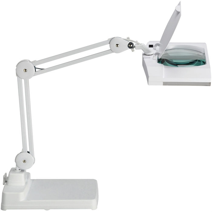 Picture of MAUL 8264102 - MAULvitrum, magnifying energy saving lamp with base, White