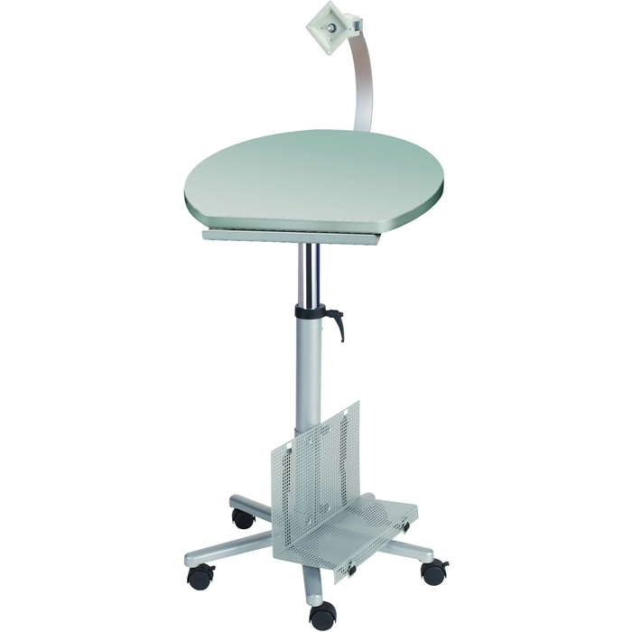 Picture of Professional Monitor Lectern with Flat Screen Arm - grey