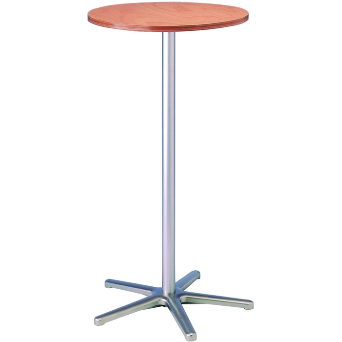 Picture of Tall round table, table top in melamine resin laminate - wood