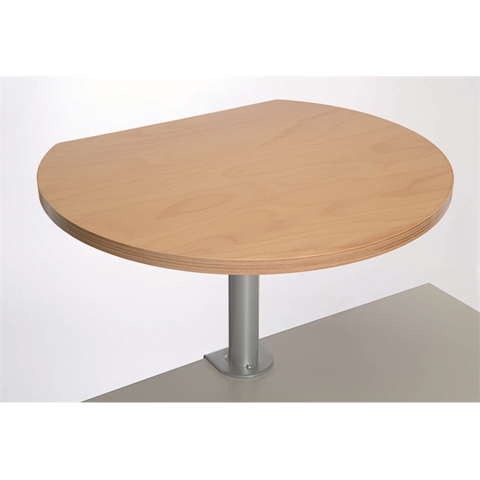 Picture of Clamp-on tall round table , top in beech multiplex - wood