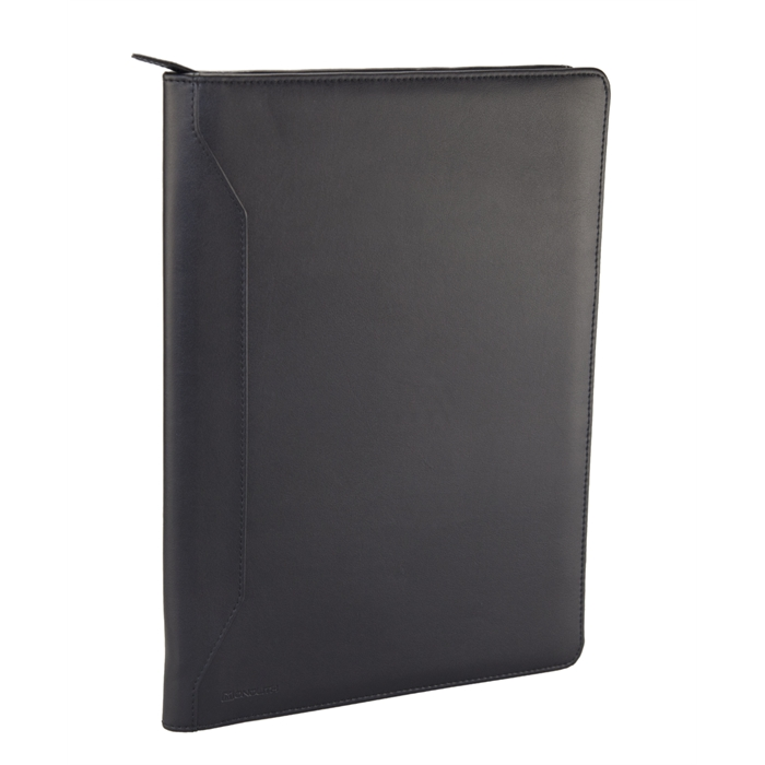 Picture of MONOLITH 2000002914 - Conference folder with zipper, Black 34x25x2,5 cm
