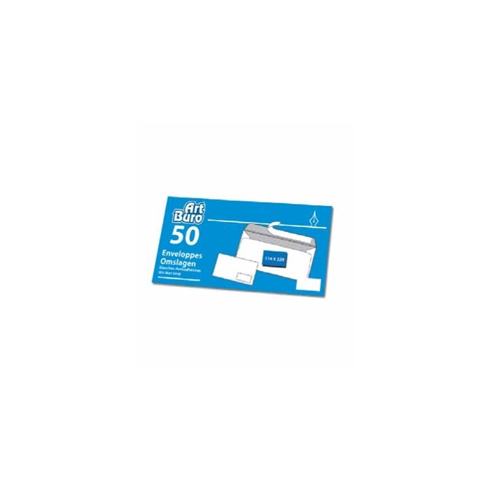Picture of 50 self-adhesive envelopes 114x229mm without window 80gr