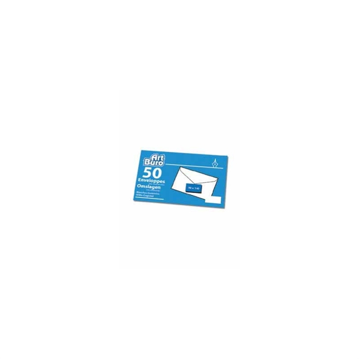 Picture of 50 business card envelopes 90gr 90x140mm
