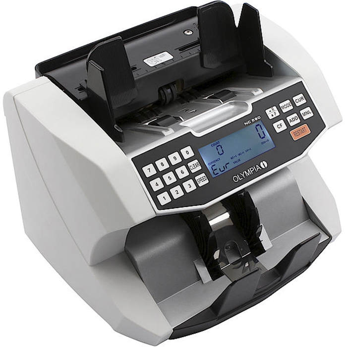 Picture of OLYMPIA NC590 - Banknote counter Mix counting 6 detections methods + Value counting + frontloader