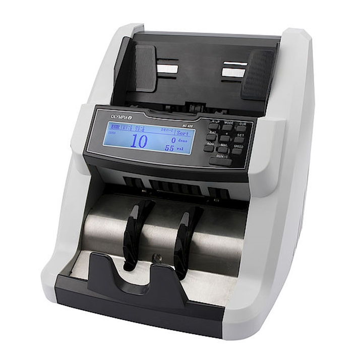 Picture of OLYMPIA NC620 - Banknote counter Mix counting 6 detections methods + Value counting + frontloader