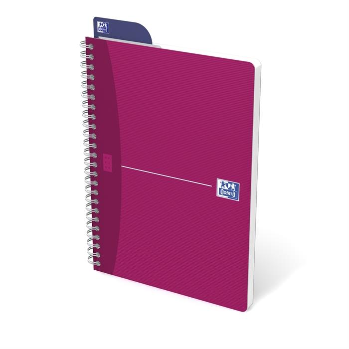 Picture of OXFORD Office My Style A5 Soft Card Twin-wire Notebook Ruled 180 Pages Assorted Colours SCRIBZEE® Compatible