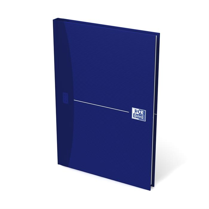 Picture of OXFORD Office Essentials A5 Hardback Casebound Notebook 5mm Squares 192 Pages Blue