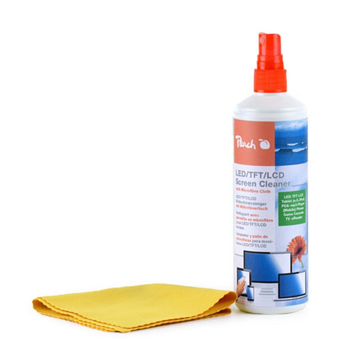 Picture of Peach Screen Cleaner Set, PA104 1 bottle 250 ml & micro fibre cloth (MC=12)
