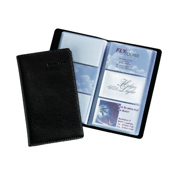 Picture of Porte-cartes de visite Sigel noir 120 cartes