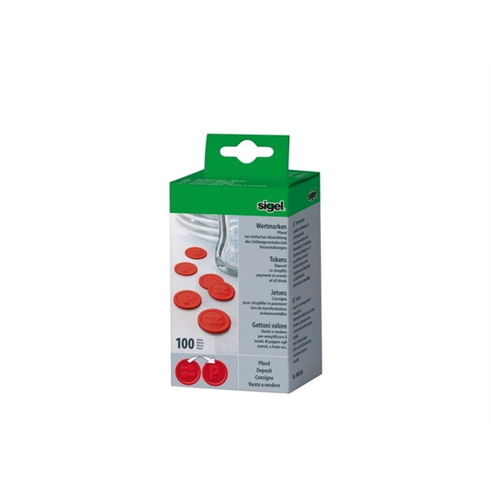 Picture of Jetons evenements Sigel gage rouge 100 pcs