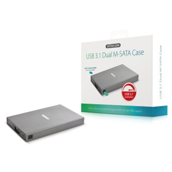 MD-399 Hard-Disk Case for Intel-M-SATA SSD, USB 3.1, Aluminium, Picture 8
