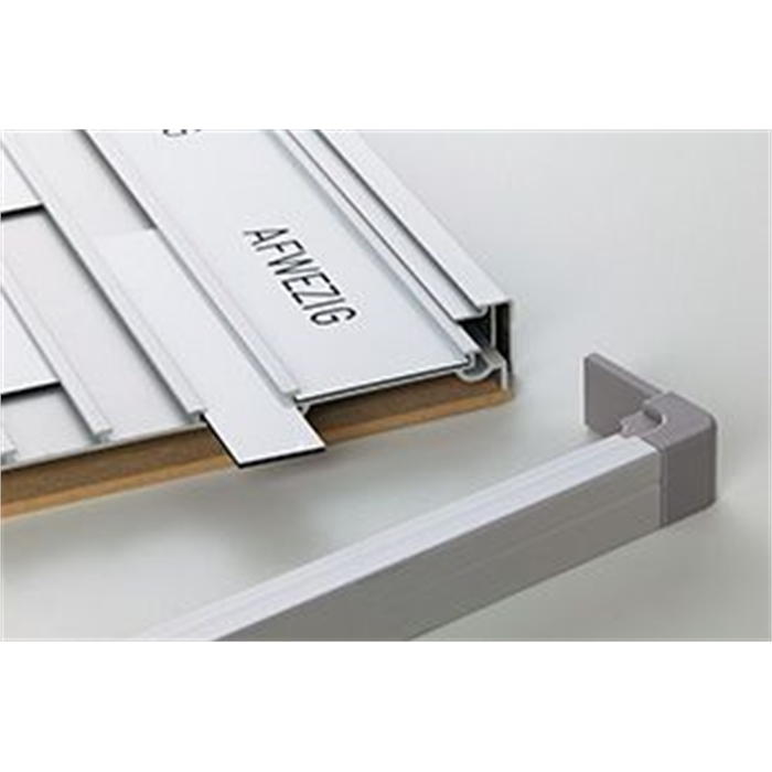 SMIT VISUAL 11304.211 - Presence board Combi Softline 16 mm, engraving, 20 pos. gb White/Gray 24x52 cm, Picture 2