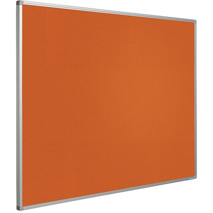 SMIT VISUAL 11204.361 - Pin board Bulletin Softline frame 16 mm, Orange 120x240 cm, Picture 1