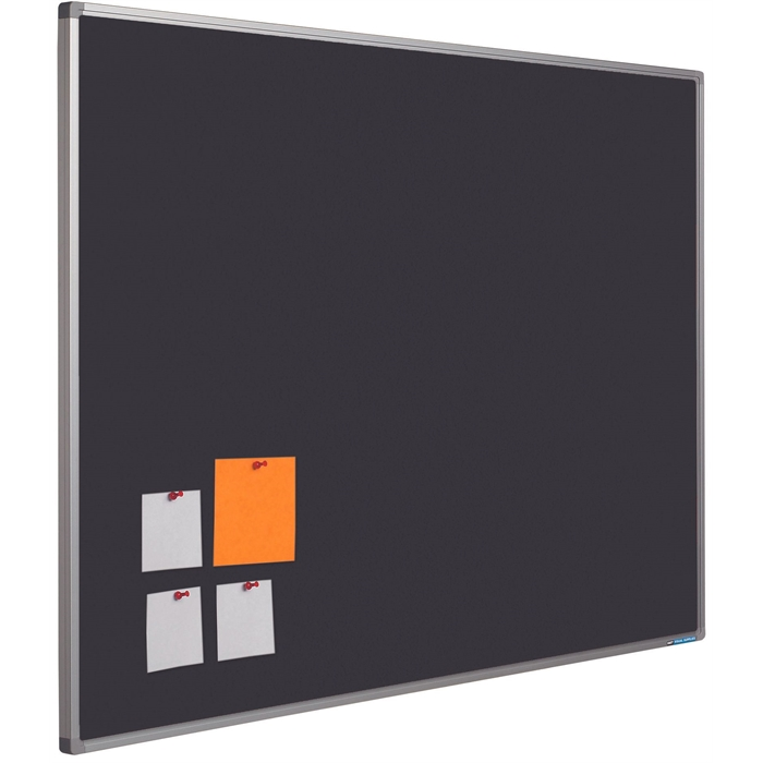 SMIT VISUAL 11204.306 - Pin board Bulletin Softline frame 16 mm, Black 45x60 cm, Picture 1