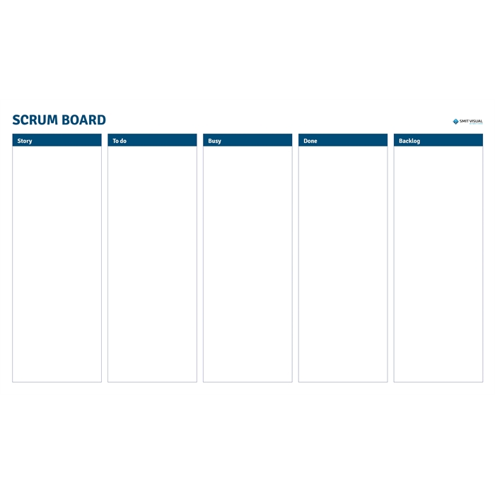 SMIT VISUAL 33208.052 - Writable printed Visual Management steel sheets for click frame, Scrum A2, Picture 1