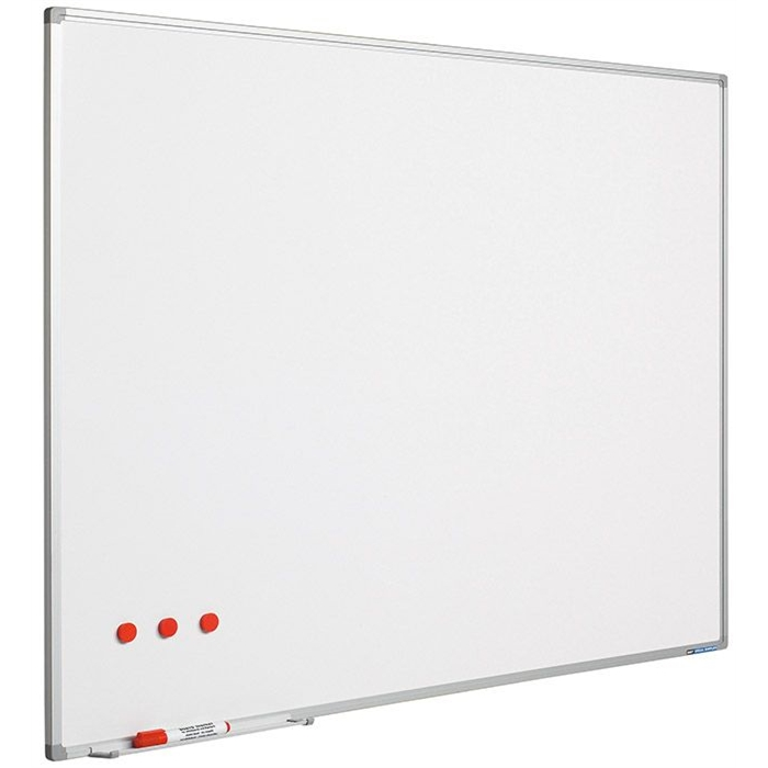 Picture of SMIT VISUAL 11103.326 - Whiteboard Softline, Profile 8 mm, Enamel steel, White, 120x350 cm