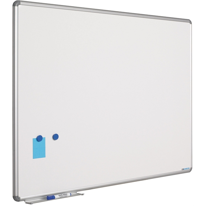 SMIT VISUAL 11101.108 - White board enamelled steel Design frame 16mm, White 90x180 cm, Picture 1