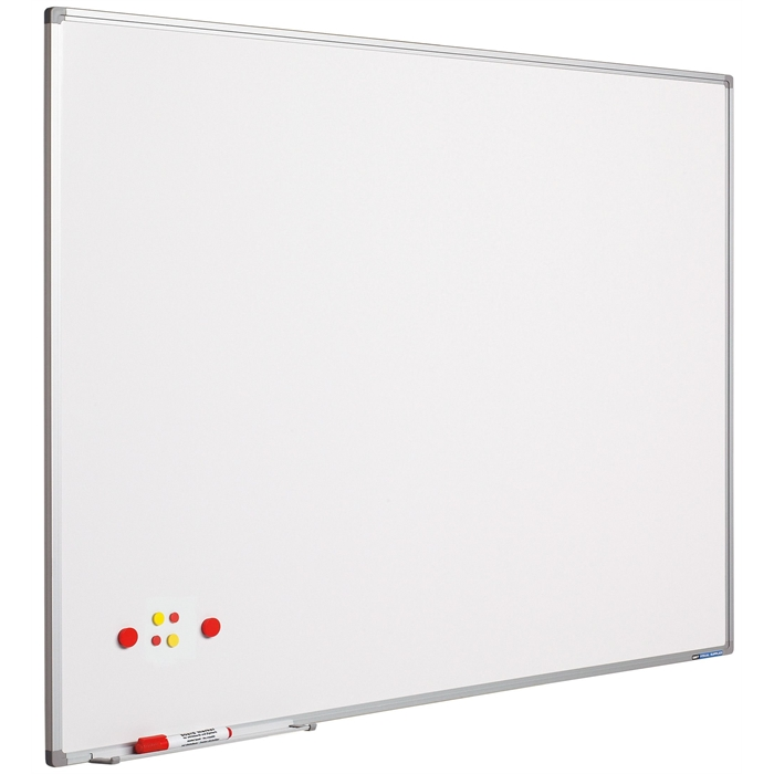 SMIT VISUAL 11103.268 - White board coated steel Softline frame 8mm, White 100x100 cm, Picture 1