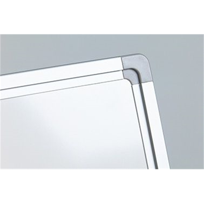 SMIT VISUAL 11103.268 - White board coated steel Softline frame 8mm, White 100x100 cm, Picture 3