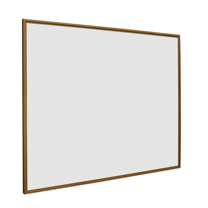 Picture of SMIT VISUAL 11104.310 - White board enamelled steel Softline oak wood look frame 16mm, White 100x200 cm