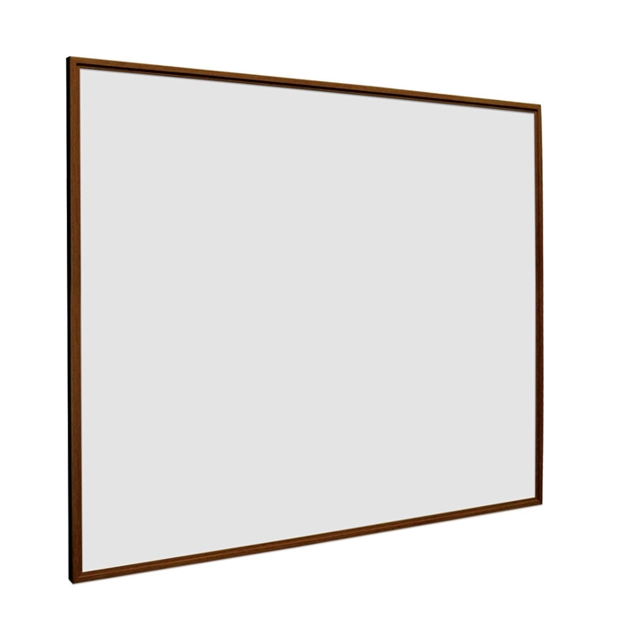 SMIT VISUAL 11104.321 - White board enamelled steel Softline walnut wood look frame 16mm, White 100x150 cm, Picture 1