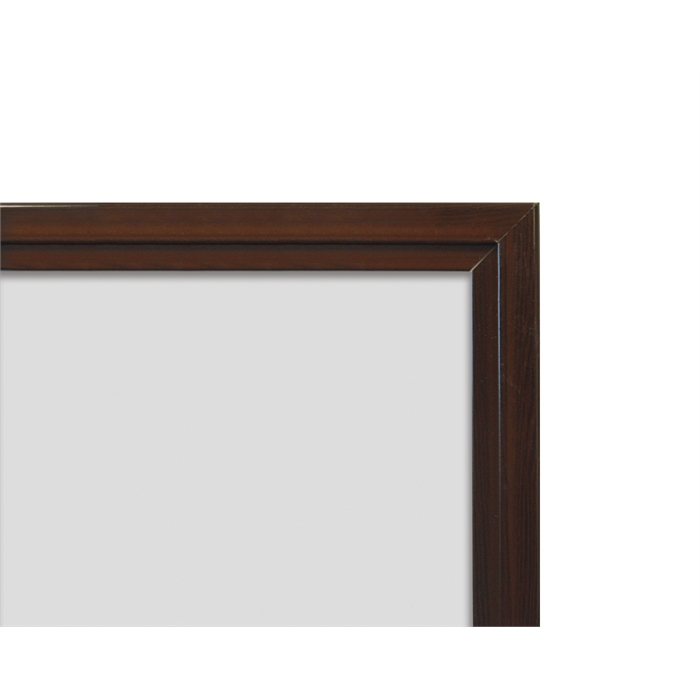 SMIT VISUAL 11104.321 - White board enamelled steel Softline walnut wood look frame 16mm, White 100x150 cm, Picture 2