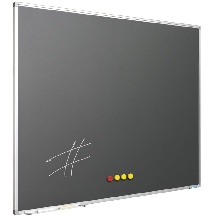 SMIT VISUAL 11103.617 - Chalk board enamelled steel Softline frame 8 mm, Gray 100x100 cm, Picture 1