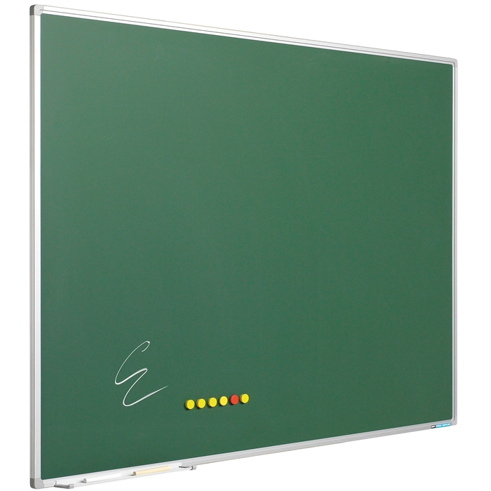 SMIT VISUAL 11103.247 - Chalk board enamelled steel Softline frame 8 mm, Green 100x100 cm, Picture 1