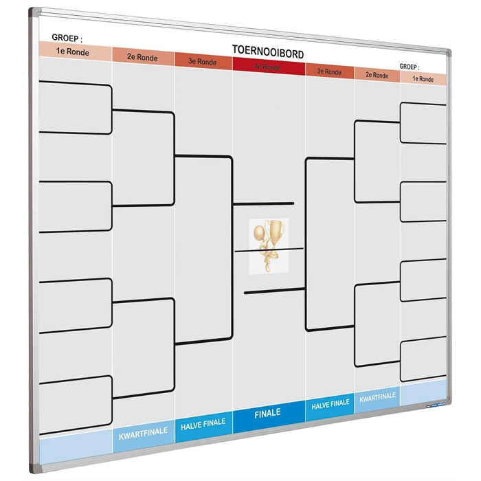 Picture of SMIT VISUAL 11103.573 - Full colour planning board, Softline frame, Tournament gb 90x120 cm