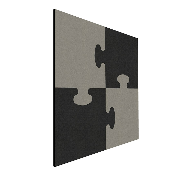 Picture of SMIT VISUAL 11601.001 - Shapes pin panel bulletin puzzle, Black-gray 100x100 cm