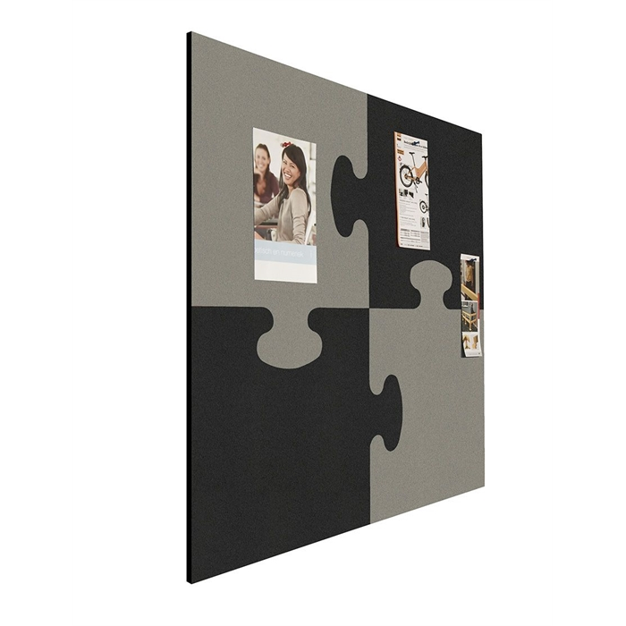 SMIT VISUAL 11601.001 - Shapes pin panel bulletin puzzle, Black-gray 100x100 cm, Picture 2