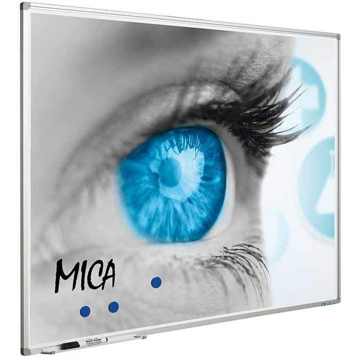 SMIT VISUAL 11103.360 - Projection board Mica, Softline frame 8mm, enamel surface (4:3) White 150x200 cm, Picture 1
