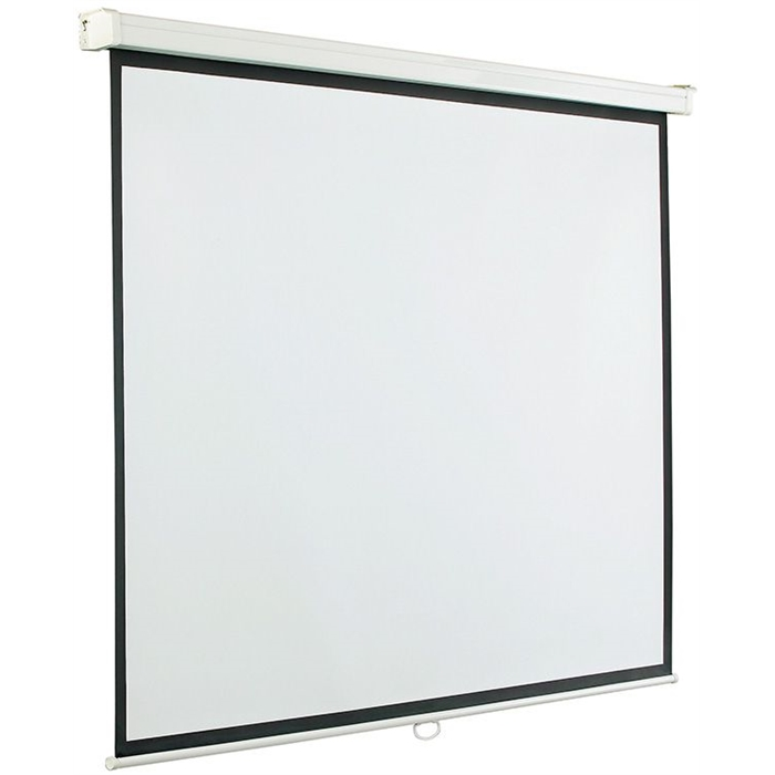 Picture of SMIT VISUAL 14007.320 - Projection screen, Manual control (16:10), 4 black frames, White/black, 300x227 cm
