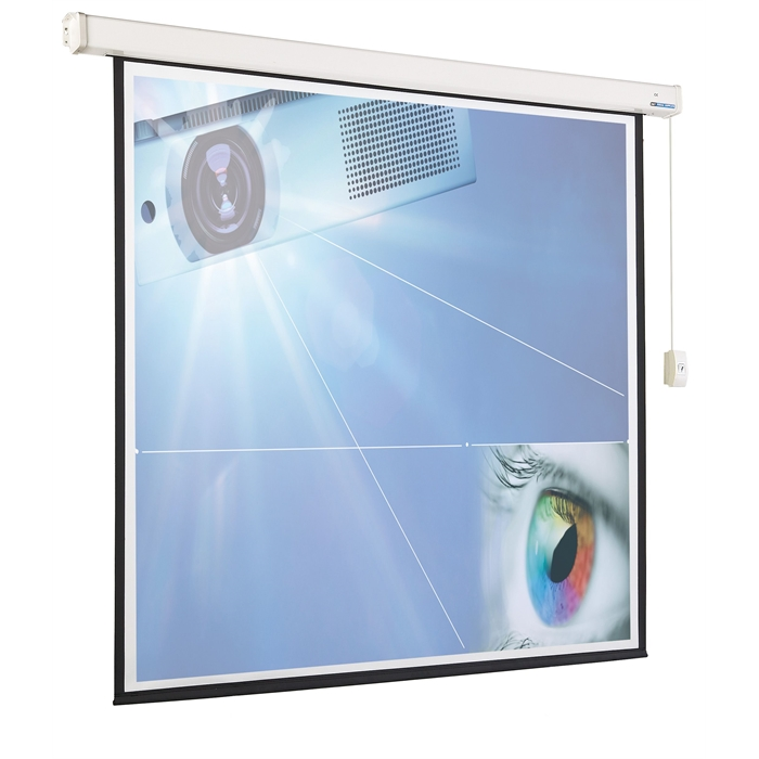SMIT VISUAL 14007.351 - Projection screen, Electric (4:3), 4 black frames, White/black, 180x203 cm, Picture 1